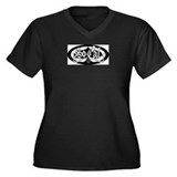 Lucky So Cal Women's Plus Size V-Neck Dark T-Shirt