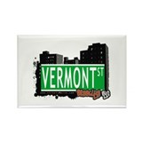 VERMONT ST, BROOKLYN, NYC Rectangle Magnet (10 pac