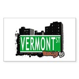 VERMONT ST, BROOKLYN, NYC Rectangle Decal