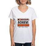 Mission Remission Leukemia Women's V-Neck T-Shirt
