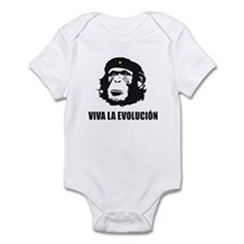 Viva La Evolucion Darwin Infant Bodysuit