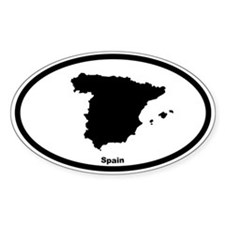 Spain Outline Oval Decal