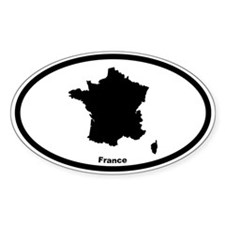 France Outline Oval Decal