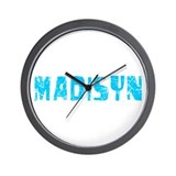 Madisyn Faded (Blue) Wall Clock