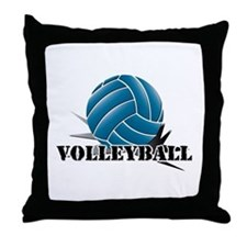 Volleyball starbust blue Throw Pillow