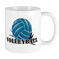 Volleyball starbust blue Mug
