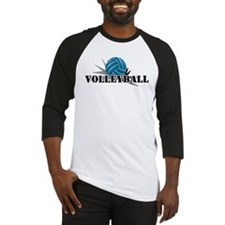 Volleyball starbust blue Baseball Jersey