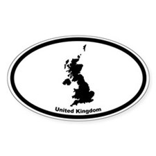 United Kingdom Outline Oval Decal