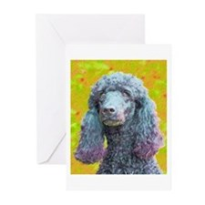 Jaz the Standard Poodle Greeting Cards (Package of