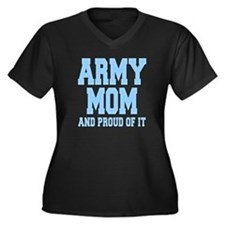 Army Mom and Proud of it Women's Plus Size V-Neck