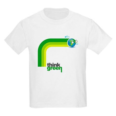 Think Green Earth Rainbow Kids Light T-Shirt