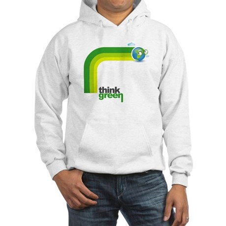 Think Green Earth Rainbow Hooded Sweatshirt