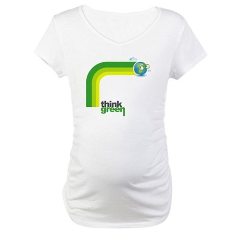 Think Green Earth Rainbow Maternity T-Shirt