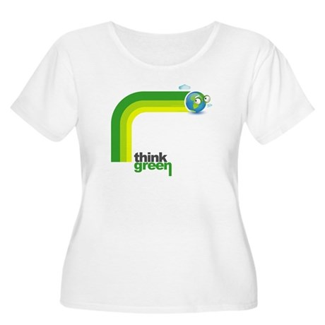 Think Green Earth Rainbow Women's Plus Size Scoop