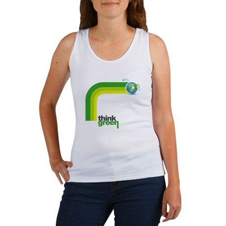 Think Green Earth Rainbow Women's Tank Top
