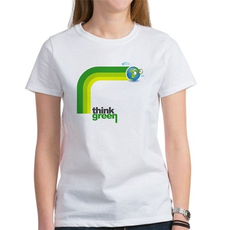 Think Green Earth Rainbow Women's T-Shirt