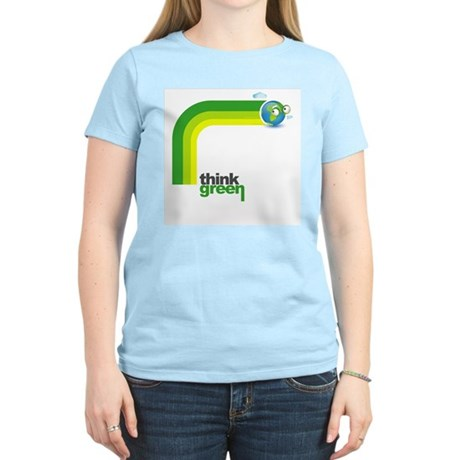 Think Green Earth Rainbow Women's Light T-Shirt