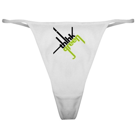 Think Green Typography Classic Thong