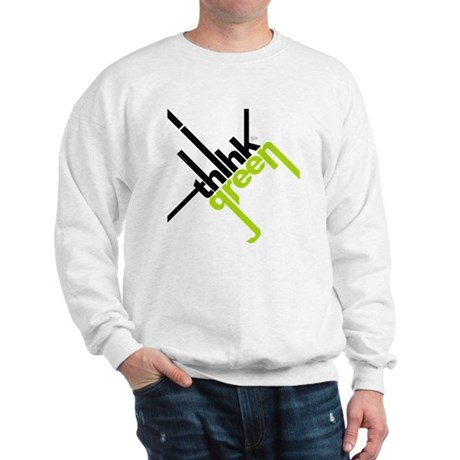 Think Green Typography Sweatshirt