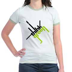 Think Green Typography Jr. Ringer T-Shirt