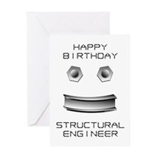 Structural Engineer Birthday (Blank) Greeting Card