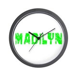 Madilyn Faded (Green) Wall Clock