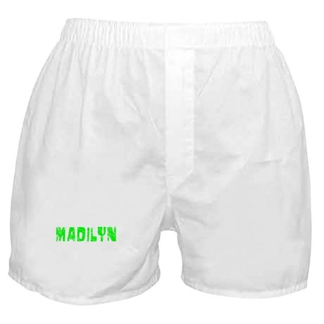 Madilyn Faded (Green) Boxer Shorts