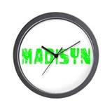 Madisyn Faded (Green) Wall Clock