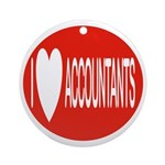 I Love Accountants Keepsake (Round)