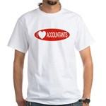 I Love Accountants White T-Shirt