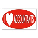 I Love Accountants Rectangle Sticker