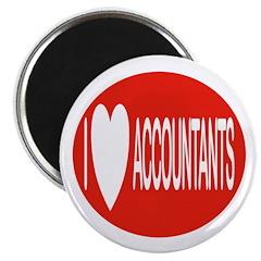 "I Love Accountants 2.25"" Magnet (100 pack)"