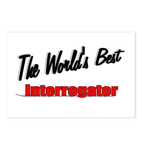 """The World's Best Interrogator"" Postcards (Package"