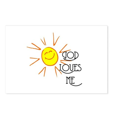 God Loves Me Postcards (Package of 8)