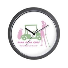 Pink Diva Golf - Wall Clock