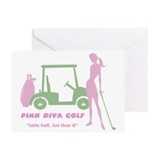 Pink Diva Golf - Greeting Card