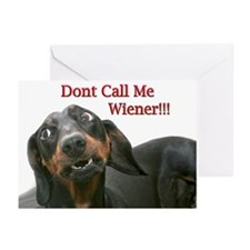 Who U Callin Wiener Greeting Cards (Pk of 10)