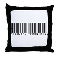 Pharmacy Technician Barcode Throw Pillow