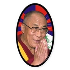 Dalai Lama Oval Sticker (10 pk)