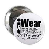 "Pearl Ribbon Sister 2.25"" Button"