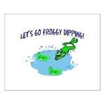 Froggy Dipping Small Poster