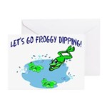 Froggy Dipping Greeting Cards (Pk of 10)