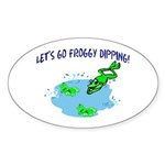 Froggy Dipping Oval Sticker (10 pk)