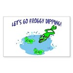 Froggy Dipping Rectangle Sticker 10 pk)