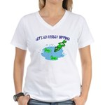 Froggy Dipping Women's V-Neck T-Shirt