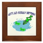 Froggy Dipping Framed Tile