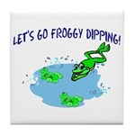 Froggy Dipping Tile Coaster