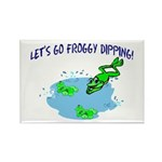 Froggy Dipping Rectangle Magnet (10 pack)