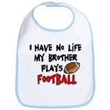 No Life Brother Football Bib