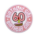 Birthday Girl #60 Ornament (Round)